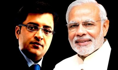PM Narendra Modi speaks with Arnab Goswami