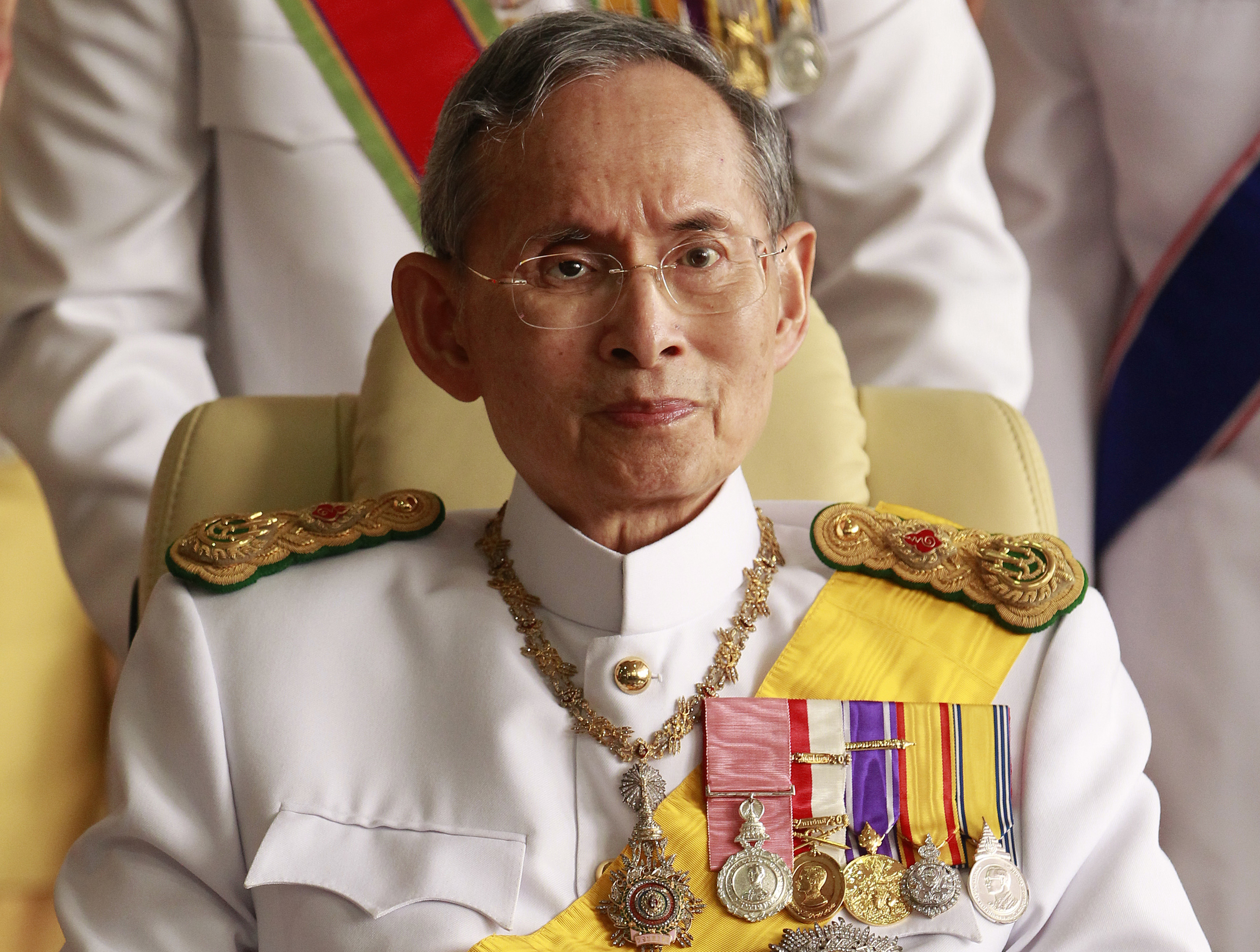 Thailand's King Bhumibol Adulyadej leaves the Siriraj Hospital for a ceremony at the Grand Palace in Bangkok Kokula Krishna Hari Kunasekaran